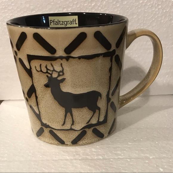 Pfaltzgraff Other - ✅🆕Pfaltzgraff mug deer brown and tan 16 oz.